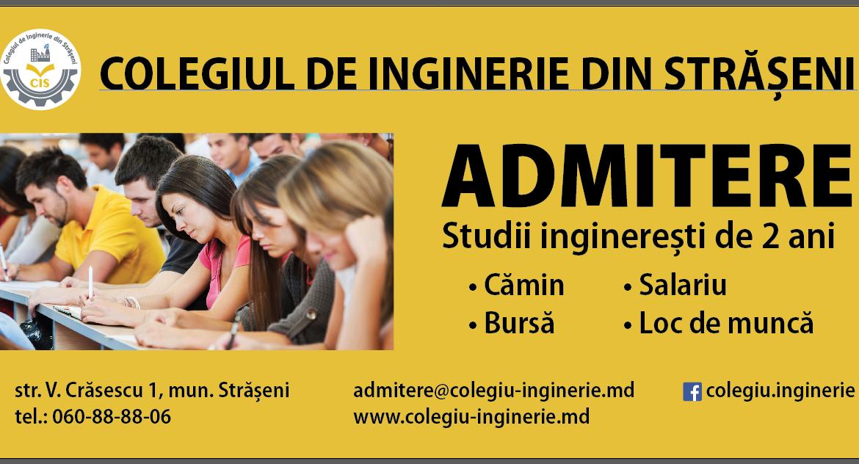 Colegiul de Inginerie anunță admiterea la studii